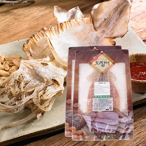 [바다의맛] 국내산 건 오징어 1미(60g)x2봉이식사