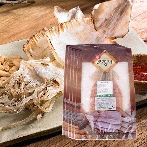 [바다의맛] 국내산 건 오징어 1미(60g)x5봉이식사