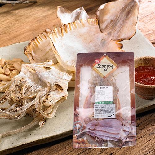 [바다의맛] 국내산 건 오징어 3미(170g)이식사