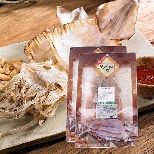 [바다의맛] 국내산 건 오징어 3미(170g)x2봉이식사