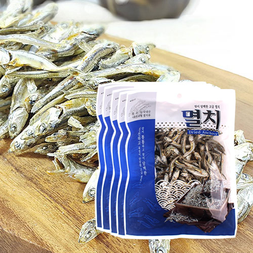 [남해청정] 신선하고 담백한 조림용 고급멸치 150gx5봉이식사