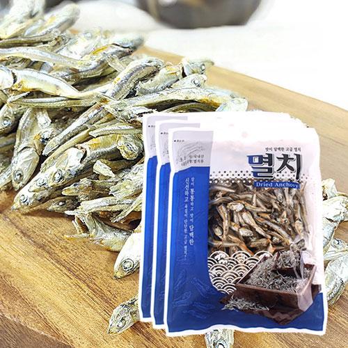 [남해청정] 신선하고 담백한 국물용 고급멸치 150gx3봉이식사