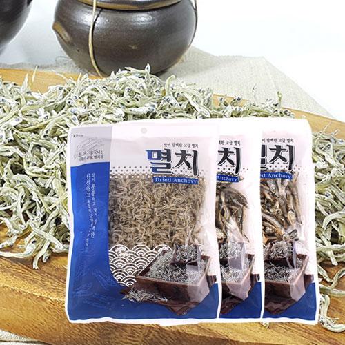 [남해청정] 신선하고 담백한 고급멸치 3종(볶음용,조림용,국물용)x각1봉이식사