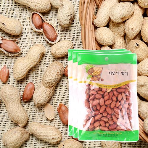 [산과들과] THE NUT 건강한 볶은 알땅콩 200gx3봉이식사