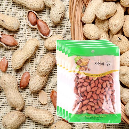 [산과들과] THE NUT 건강한 볶은 알땅콩 200gx5봉이식사