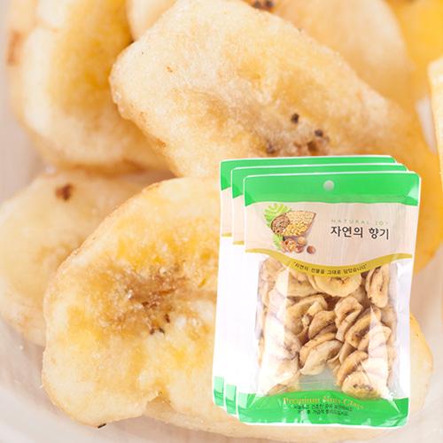 [THE CHIP] 바삭달콤한 바나나칩 100gx3봉이식사