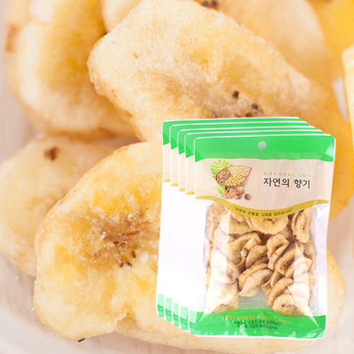 [THE CHIP] 바삭달콤한 바나나칩 100gx5봉이식사