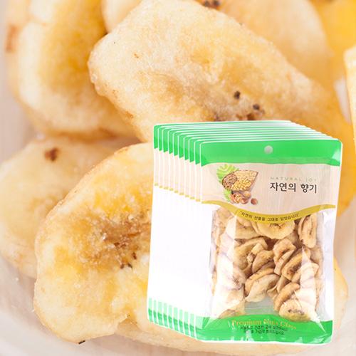 [THE CHIP] 바삭달콤한 바나나칩 100gx10봉이식사