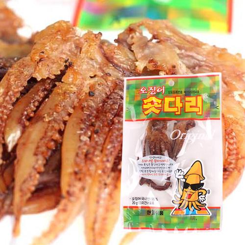 [의리있는오징어] 쫄깃,짭잘,달콤한 오징어 숏다리 20gx5팩이식사