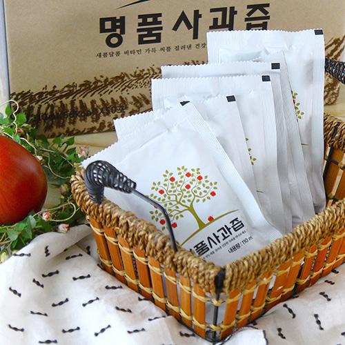 [새콤달콤] 입안가득 명품 사과즙 (110mlx50봉)x2박스(선물박스)이식사