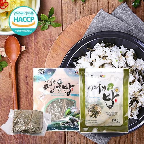 [굿뜨래] 시래기 연잎밥 230gx3봉+시래기밥 210gx3봉이식사