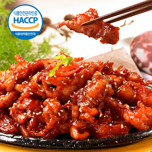 [웰쉐프] HACCP인증 숯불향 가득한 무뼈 불닭발 250gx7팩이식사