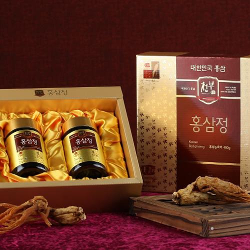 [천부홍삼] 홍삼정 프리미엄 농축액 240g*2병이식사
