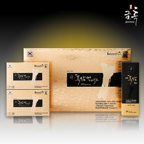 [금산흑삼] 금흑수 흑삼액 마일드 (진액+캔디) 선물세트이식사
