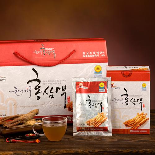 [충심명작] 천년마루 홍삼액 70ml*30포이식사