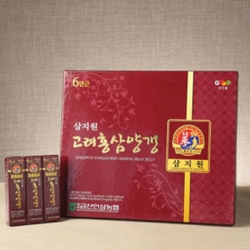 [백제금산인삼농협] 삼지원 6년근 고려홍삼양갱 600g(30gx20개)이식사