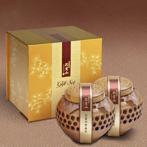 [9월20일 오전 9시 결제완료건 명절전 배송가능] [강원도] 특허받은 자연송이 꿀담은 선물세트 2호이식사