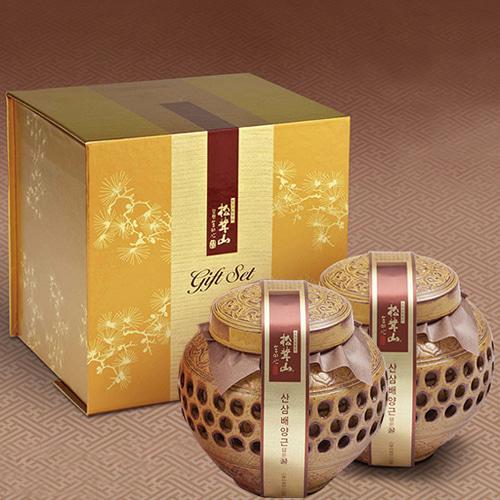 [9월20일 오전 9시 결제완료건 명절전 배송가능] [강원도] 특허받은 산삼배양근 꿀담은 선물세트 2호이식사