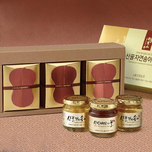[9월20일 오전 9시 결제완료건 명절전 배송가능] [강원도] 특허받은 자연송이+산삼배양근 꿀담은 선물세트 매호이식사