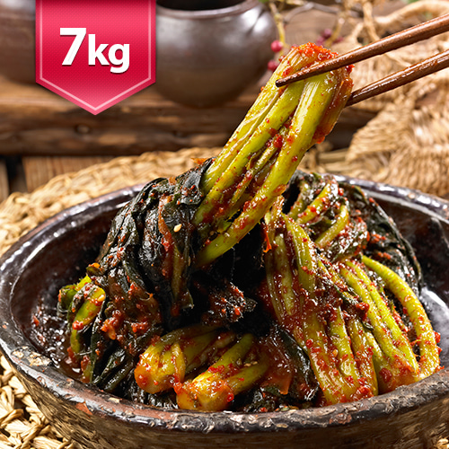 [전통식품인증] 여수 돌산 갓김치 7kg이식사