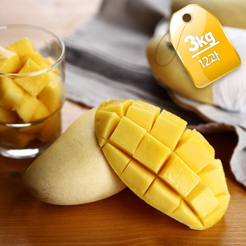 [열대과일의왕] 부드럽고 달콤한 카라바오 망고 3kg/12과이식사