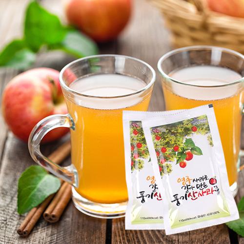 [통사과그대로] 영주사과로 갈아만든 풍기산 사과즙 선물세트 1호이식사