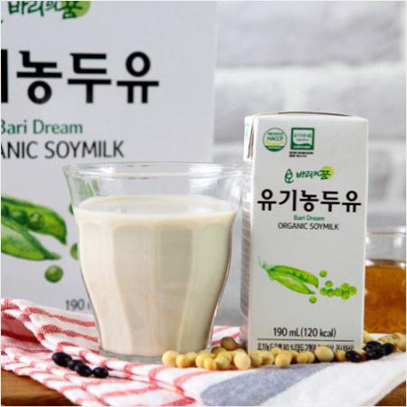 [HACCP 인증] 바리의꿈 건강음료 유기농 두유 190ml*16팩 (최대구매수량 2세트)이식사